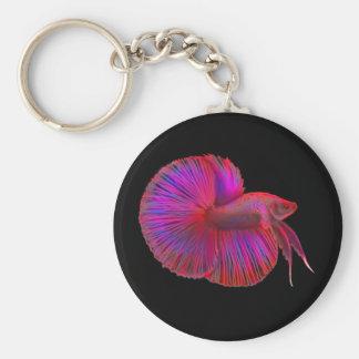 Siamese Fighting Fish Betta Keychain