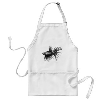 Siamese fighting fish- Betta splendens Apron