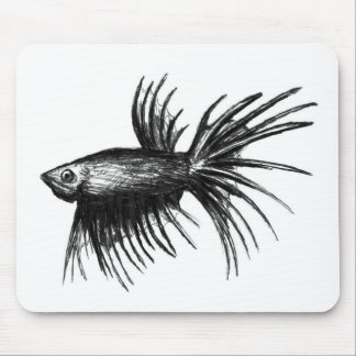 Siamese fighting fish- Betta splendens Mouse Pad