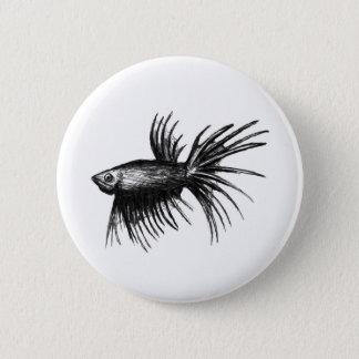 Siamese fighting fish- Betta splendens Pinback Button