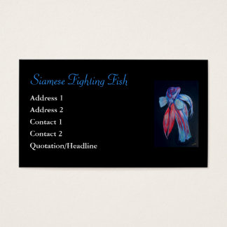Siamese Fighting Fish Business Card