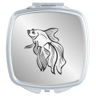 Siamese Fighting Fish Mirror For Makeup