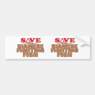 Siamese Fighting Fish Save Bumper Sticker