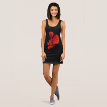 Siamese fighting fish sleeveless dress