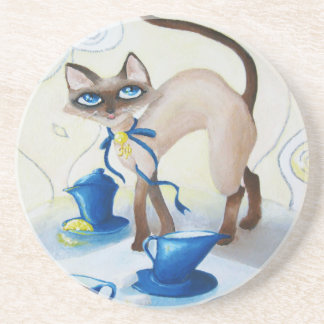 Siamese - fine art drink coaster