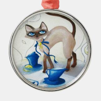 Siamese - fine art metal ornament