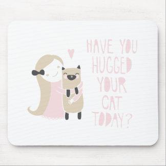 Siamese Hug Mouse Pad