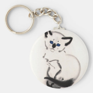 Siamese Kitten Artwork Keychain