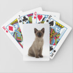 "Siamese Kitten Cat Playing Cards<br><div class=""desc"">Add more fun to your card games with this deck of playing cards featuring a Siamese kitten.</div>"