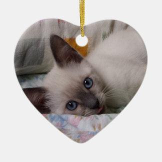 Siamese Kitten Ornament