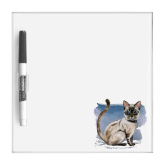 Siamese Kitten Watercolor Painting Dry-Erase Board