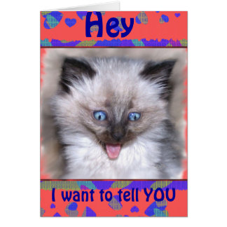 Siamese Kitten With Tongue Out Thank-you Card