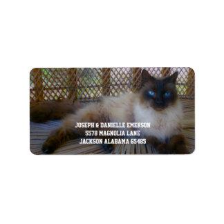 Siamese Kitty Address Labels