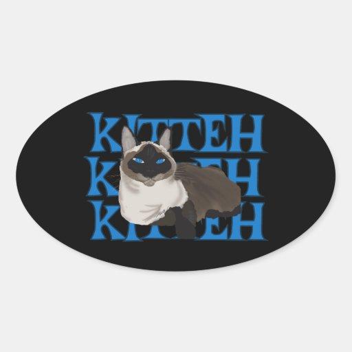 Siamese Kitty Kitteh Stickers
