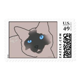 Siamese Kitty Postage Stamp