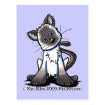Siamese Kitty Postcard