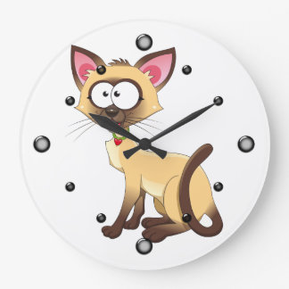 Siamese Kitty Wall Clock