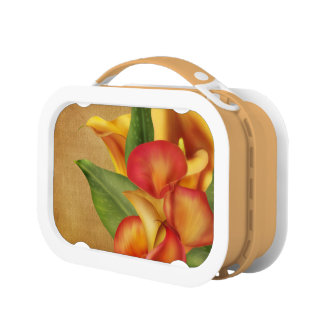 Siamese Lillies Parchment Look Lunchbox