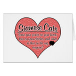 Siamese Paw Prints Cat Humor Cards