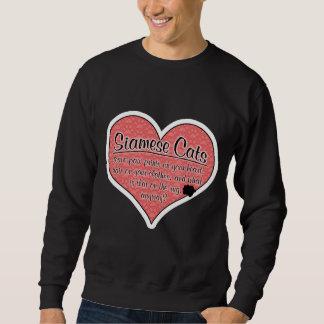 Siamese Paw Prints Cat Humor Sweatshirt