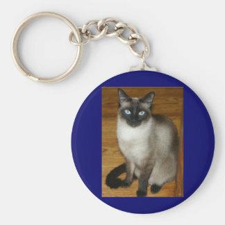 Siamese Pet Animal Kitty Meow Cat Keychain