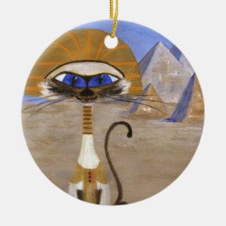 Siamese Queen of Egypt Ceramic Ornament