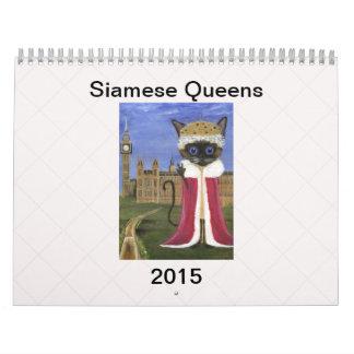 Siamese Queens Calendar - 2015