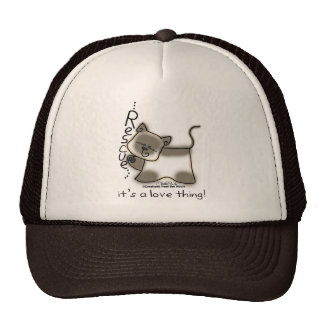 Siamese RESCUE...it's a love thing! Trucker Hat