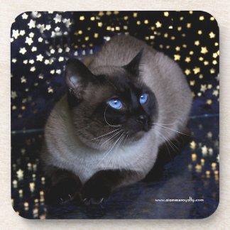 Siamese Royalty coasters with cork back - set of 6