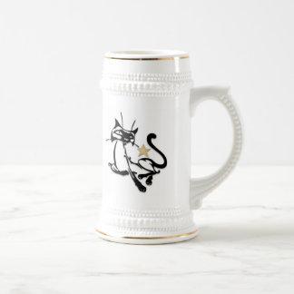 Siamese Royalty 18 Oz Beer Stein