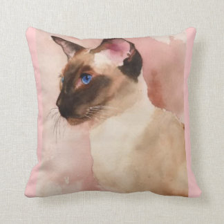Siamese RP6 Throw Pillow by American MoJo