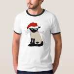 Siamese Santa Clause - Funny Christmas Cat T Shirts