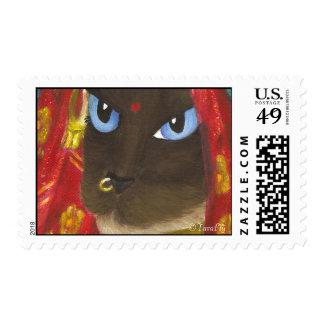 Siamese Sari Cat postage