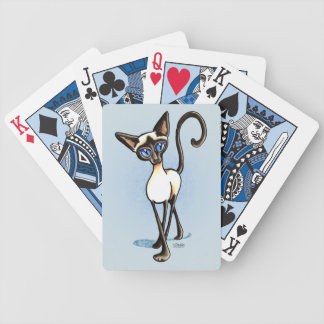 Siamese Seal Point Crosswalk Off-Leash Art™ Playing Cards