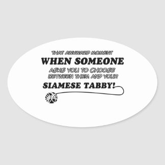 SIAMESE TABBY cat designs Sticker