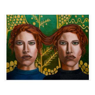 Siamese Twins 5 Postcard