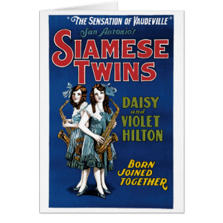 Siamese Twins - Daisy and Violet Hilton Card