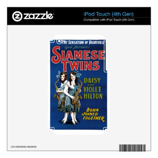 Siamese Twins - Daisy and Violet Hilton iPod Touch 4G Skins