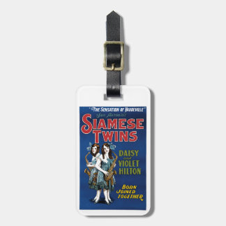 Siamese Twins - Daisy and Violet Hilton Tags For Bags