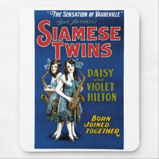 Siamese Twins - Daisy and Violet Hilton Mousepads