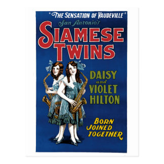 Siamese Twins - Daisy and Violet Hilton Postcard