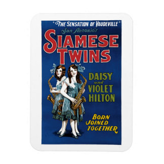 Siamese Twins - Daisy and Violet Hilton Vinyl Magnets
