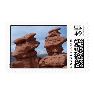 Siamese Twins- Garden of the Gods Postage Stamp
