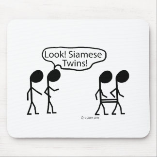 Siamese Twins Mouse Pad