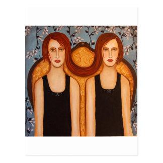 siamese twins postcard