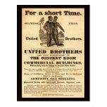 Siamese Twins Vintage Ad Post Card