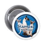 Siamese Watercolor Button