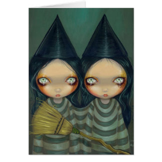 """""""Siamese Witch Twins"""" Greeting Card"""