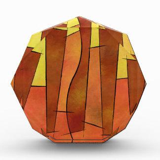 Siangonissa V1 - falling leaves Acrylic Award