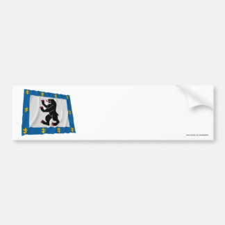 Siauliai County Waving Flag Bumper Stickers